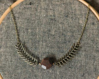 SALE - Hellas Fishbone chain necklace