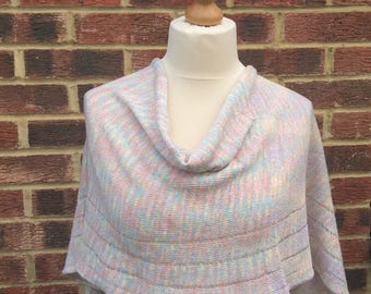 Limited Edition Bridal Shawl.Rainbow Wedding Shawl. Prom dress stole. Unique Bridesmaids Present.Gay lesbian  wrap. Spring Holidays Stole