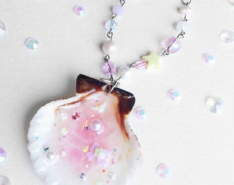 Magical Girl/Fairy Kei/Pastel/Kawaii/Doki Doki Moonlight Magical Mermaid Sea Shell Bag Charm