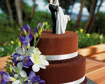 Wedding Bride and Groom Figurines, Wedding Cake Topper, Bride and Groom Cake Topper, Wedding Cake Tops, True Romance Cake Topper