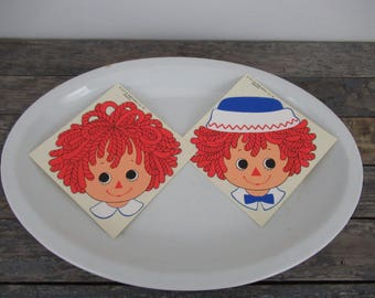 Raggedy Ann Decal, Raggedy Andy Decal, Vintage Decals, Kid's Room Decor, Furniture Decals, Decal Stickers, Laptop Decals