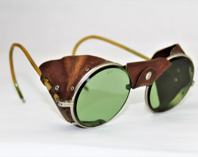 Antique Pair of American Optical Aviator / Motorcycle Safety Sun Glasses / Goggles, Sun Glasses