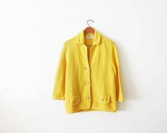 Mustard yellow cardigan | Etsy