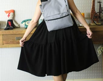 Gray Vegan Backpack, Eco Friendly Fabric Laptop Backpack with Many Pockets, Water Resistant, Great for School and Collage and for Traveling