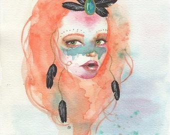 Bohemian watercolour art print