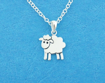 Sheep Necklace - Sheep Pendant - Handmade in sterling silver