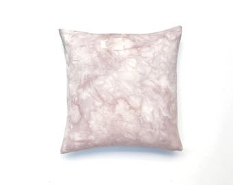 Dusty Purple Pillow Marble Design   Marbled Pillow Cover 18 x 18  Hand Dyed Desert Shades Dusty Pink Pillow Boho Pillow Boho Dorm Decor