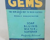 Vintage Laundry Gems Soap Bluing Original Box With Contents 1930s