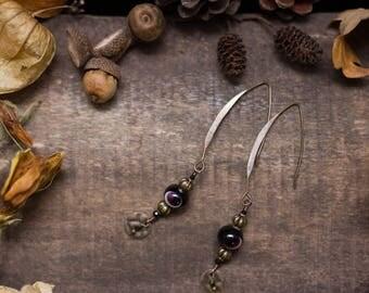 Glassbeads black spinelle earrings