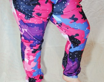 Pixel Nebula Pajama Pants! Stretchy & Comfy Jogger Style Pants with Drawstring and Pockets