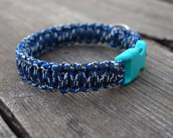 Clearance ONE SIZE ONLY Blue Camo Dog Collar