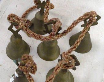 Set Of Six (6) Vintage Hanging Bells/Chimes