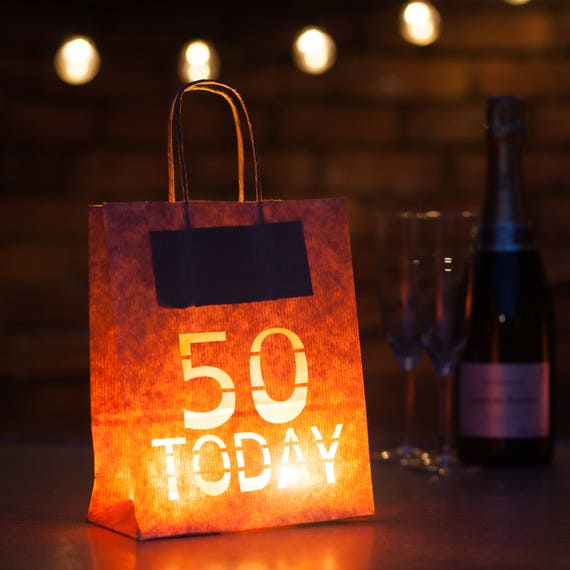 50 Today Lantern Bag Table Decoration