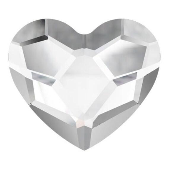 6mm Custom Swarovski Crystal Heart Earring set Wedding Clear Gems Rhinestone w/ Silver Titanium Post Hypoallergenic Minimalist Stud Ladies