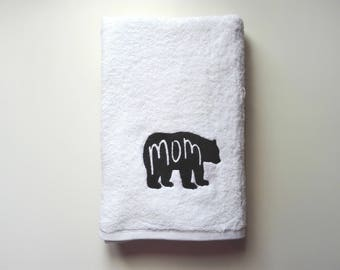 Mother's Day Gift / Personalized Towel / Monogrammed Towel / Hand Towel / Bath Towels / Embroidered Towel