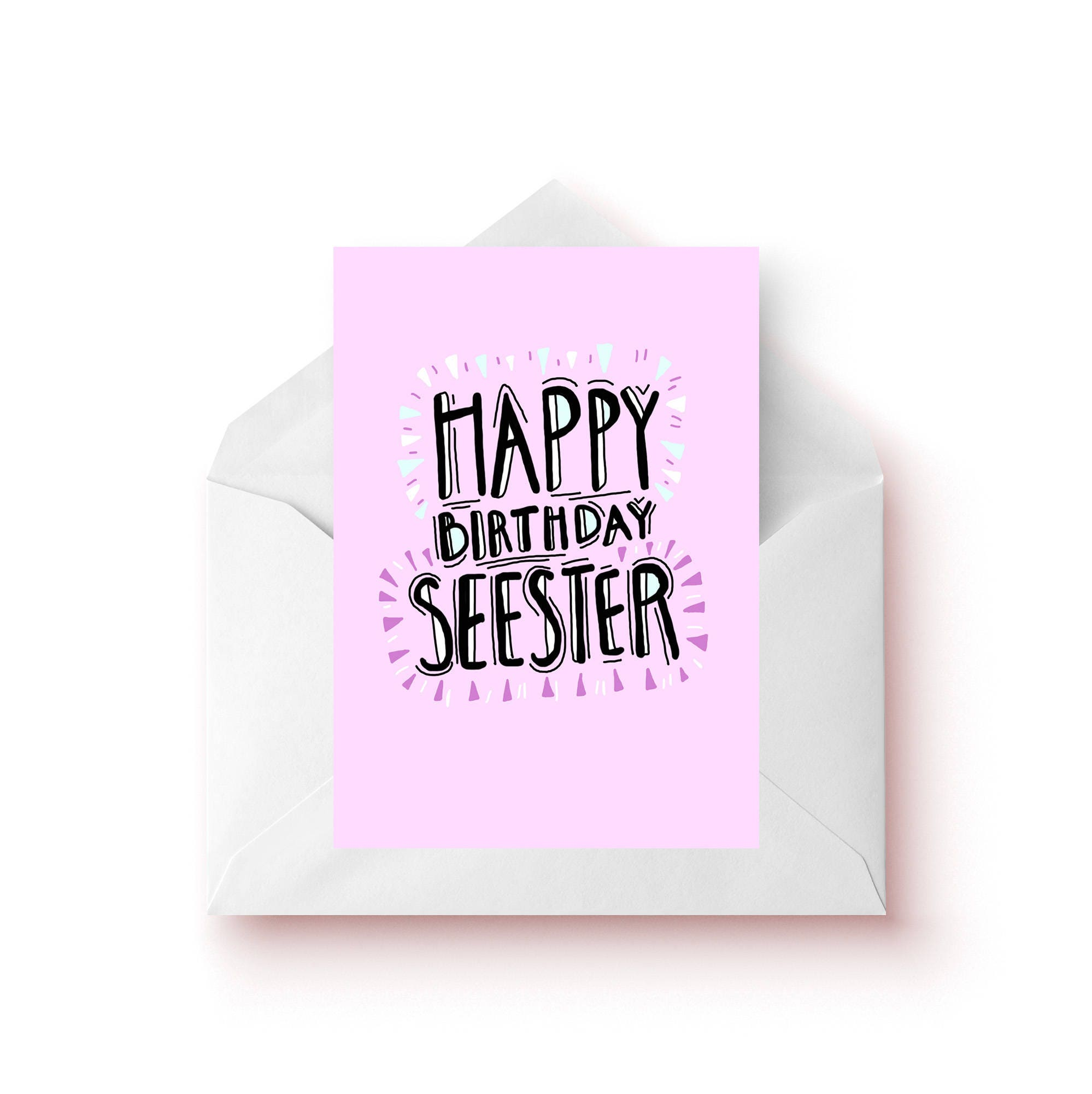 Sister Funny Birthday Cards Gift For Sister Gift For Her
