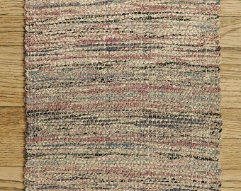 """Hand Woven Table Runner -  Twice Woven Cotton 15"""" x 52"""""""