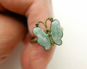 Hand paint butterfly RING  (2020B)