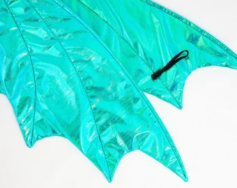 Aqua Green Dragon Wings, Dragon Accessories, Dragon Mask, Dragon Crown.