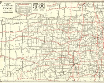 Kansas Map Etsy - Kansas map