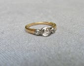RESERVED - Payment of 278 of 695 - Edwardian Diamond and 14k Trilogy Ring