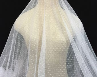 White Lace Mesh, White with a Tint of Lilac Fabric, Lace Fabric, Polka Dot Lace, White Lace, Lace Mesh, White Mesh Fabric, Dress Fabric