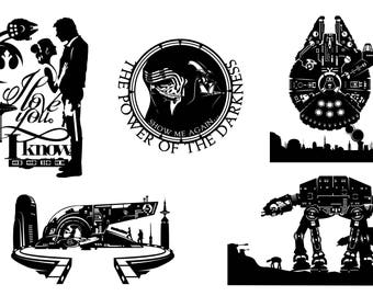 Prints of Will Pigg's Star Wars Silhouette Paper cuts on 100lb Stipple Paper see listing for designs available