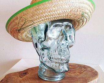 Vintage Mid Century Mexican Straw Summer Hat