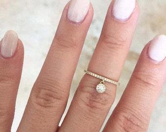 14k Gold Diamond Lady's Ring