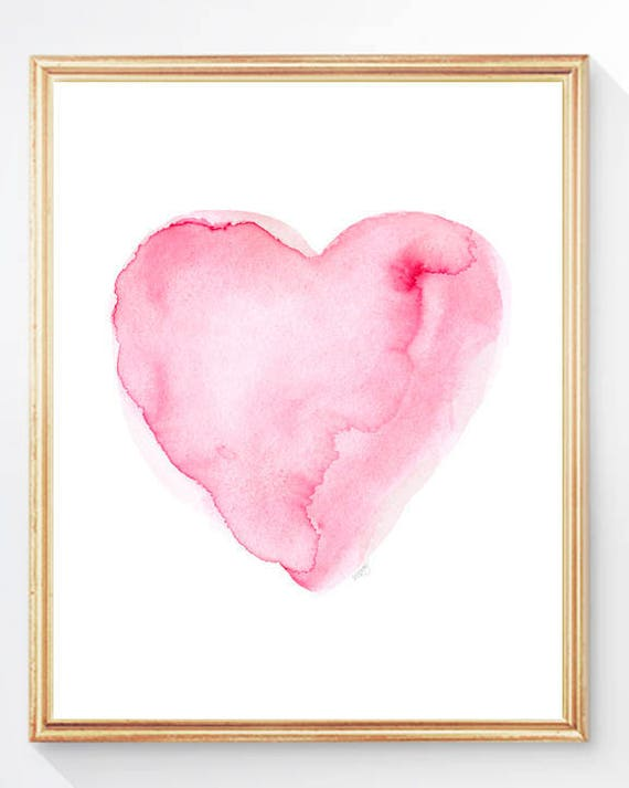 Ethereal Pink Heart Print, 8x10