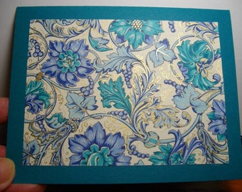 Delphine on Blue-Green Cardstock 8-Card Box