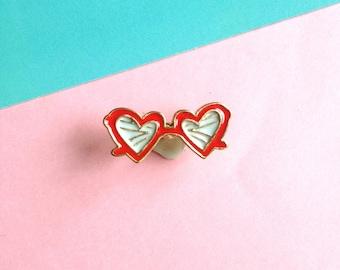 Cool Shades enamel pin badge - hard enamel - Lapel Pin Brooch 80s style
