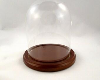 Glass Dome Display, Glass Dome Stand, Pysanky Stand, Ukrainian Egg Stand, Egg Stand, Easter Egg Stand, Egg Display Stand, Walnut Finish