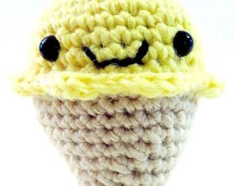 Yellow Jules the ice cream cone keychain