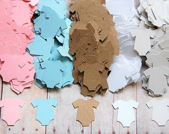 """Confetti ~ Baby Onesie Confetti ~ Baby Shower Confetti ~ 50 Pieces ~ 1"""" ~ Multiple Colors to Choose From"""