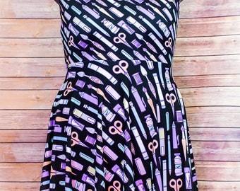 Tools of the Trade, Skater Dress, Geek Clothes, Kawaii, Cute Fun Clothing, Pastel Goth, Pastel Grunge, Soft Grunge, Plus Size