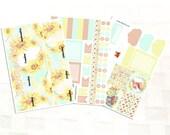 September Monthly View Sunflower Planner Sticker Kit, Vinyl Stickers, Floral, Erin Condren Sized