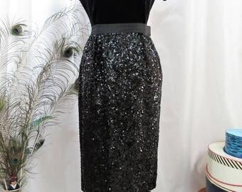 1950's Blum's-Vogue Chicago sequined skirt.