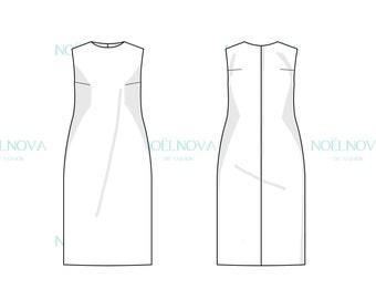 Shift Dress Block PDF Sewing Pattern