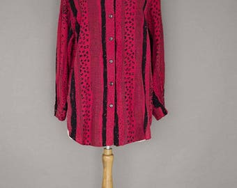 Vintage 1970's Long Red Shirt