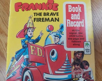 Vintage 1971 Peter Pan Records~~FRANKIE the BRAVE FIREMAN Book & Record 45 rpm