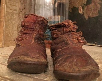 Victorian leather child's shoes
