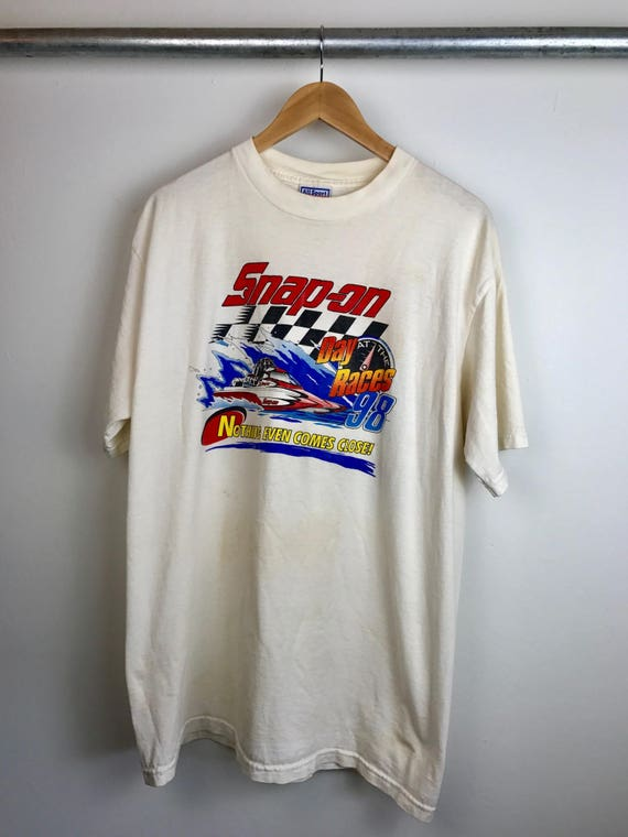 Vintage Men's Snap-On Racing Tee