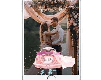 Wedding Snapchat Geofilter, Car Wedding Beautiful Party Filter, String Lights Snapchat Geofilter, Wedding Day, Wedding Accessories