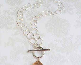 Janice ~ Swarovski Crystal & Sterling Silver Lariat