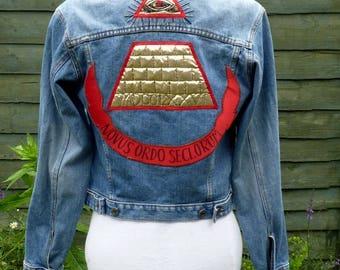Upcycled Denim desperately seeking Susan jacket UK 12, US 8