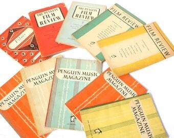 Vintage Penguin Books Decorative Film Review Music Magazine Vintage Books Old Instant Collection Photo Prop