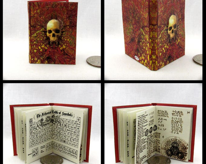 1:6 Scale MANUAL Of SPELLS And ALCHEMY Readable Illustrated Miniature Book Wesen Lore Grimm Dimensional Skull Wizard Witch Potter