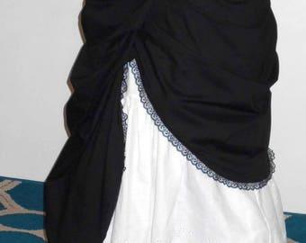 """Bustle Skirt / Bustle Overskirt/ Steampunk / Burlesque /Victorian /Free Ship / 32"""" Waist"""