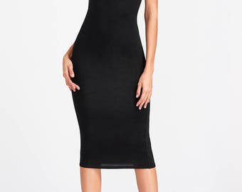 KIM - Fatal Strapless Stretch-Jersey Maxi Tube Bandeau Dress - Black, White - Seen on Kim Kardashian